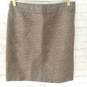 Loft giraffe animal print pencil skirt size 4